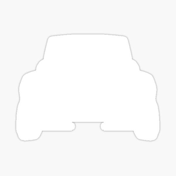 Land Cruiser Fj55 Toyota Land Cruiser 55 - pochoir avant, blanc Sticker