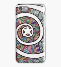 Star abstract art drawing crazy mind iPhone Case/Skin