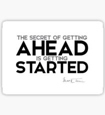 getting started - mark twain Sticker