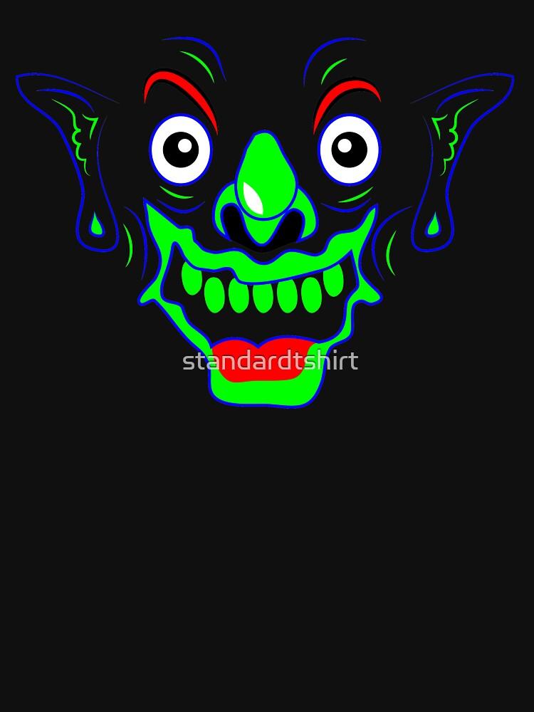 Funny Crazy Face Colorful Funny Joker Face Monster Smile Design Standard by standardtshirt
