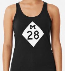 M-28 Autobahn Zeichen, Michigan Tanktop für Frauen
