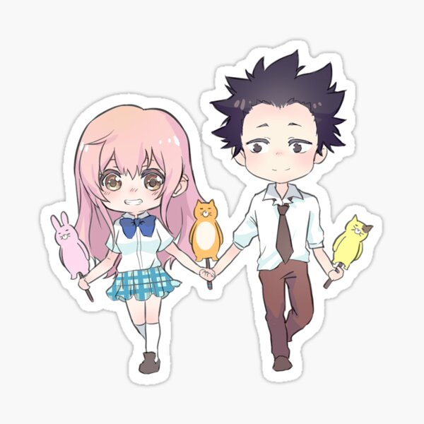 a silent voice stickers redbubble
