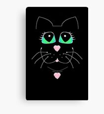 Cat With Sweet Heart Pendant Canvas Print