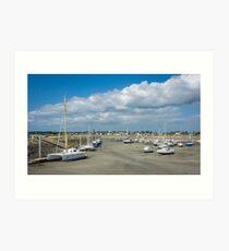 Portbail Harbour Art Print