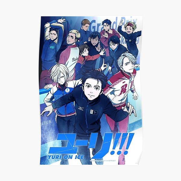 Yuri !!! sobre hielo - póster Póster