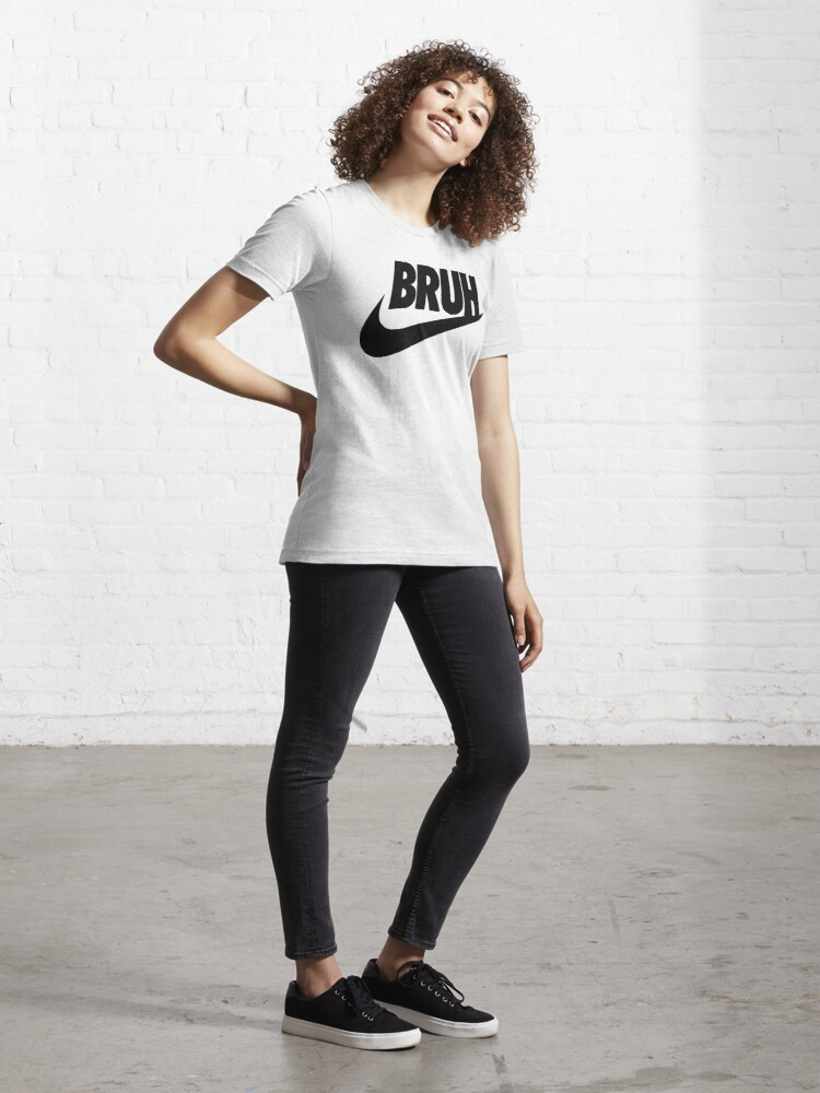 Alternate view of bruh (black) Essential T-Shirt