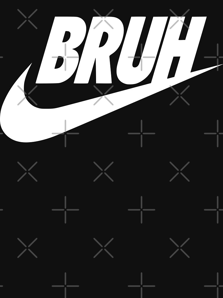 bruh (white) by MickyDeeTees