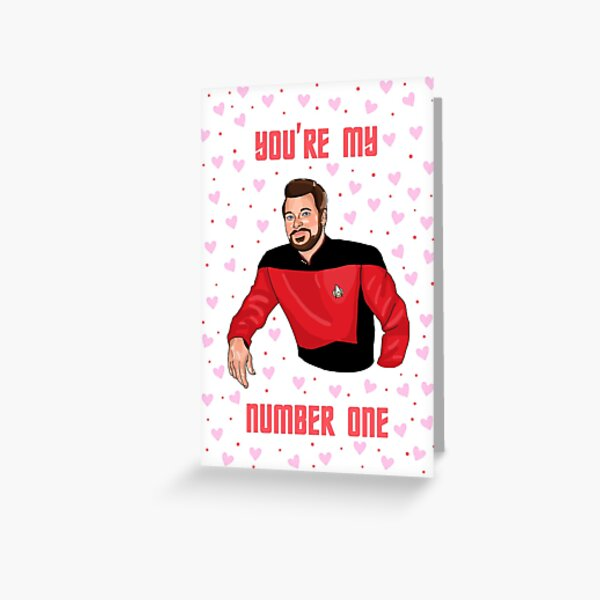 Number One valentine's card Greeting Card