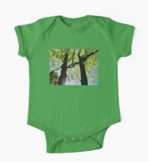 Springtime Morning With Twin Forest Trees  One Piece - Short Sleeve