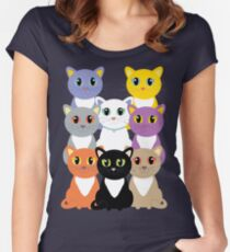 Only Eight Cats Women's Fitted Scoop T-Shirt