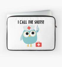 Professions Owl Nurse I Call the Shots Laptop Sleeve