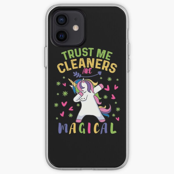 Cute Cleaner Gifts  - A Magical Gift - Dabbing Unicorn Pastel iPhone Soft Case