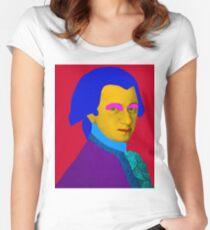 Mozart pop Art Women's Fitted Scoop T-Shirt
