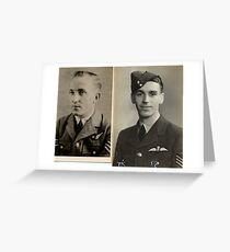 1940 Pilot and Air Gunner Greeting Card
