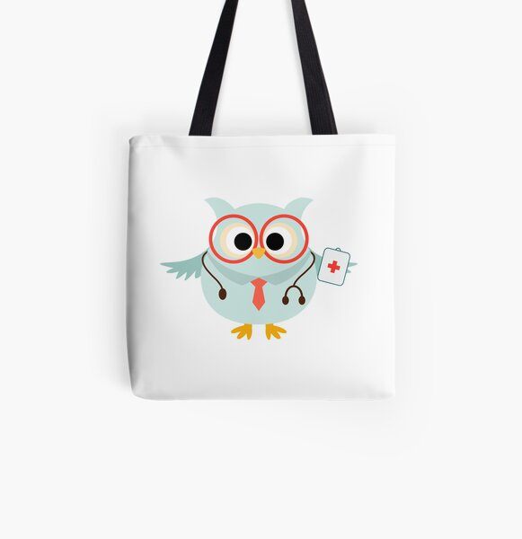 Medical Profession Owl Doctor All Over Print Tote Bag