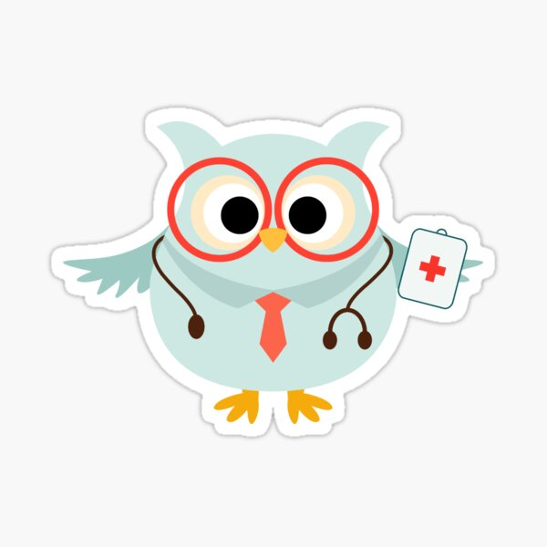 Profession médicale Owl Doctor Sticker