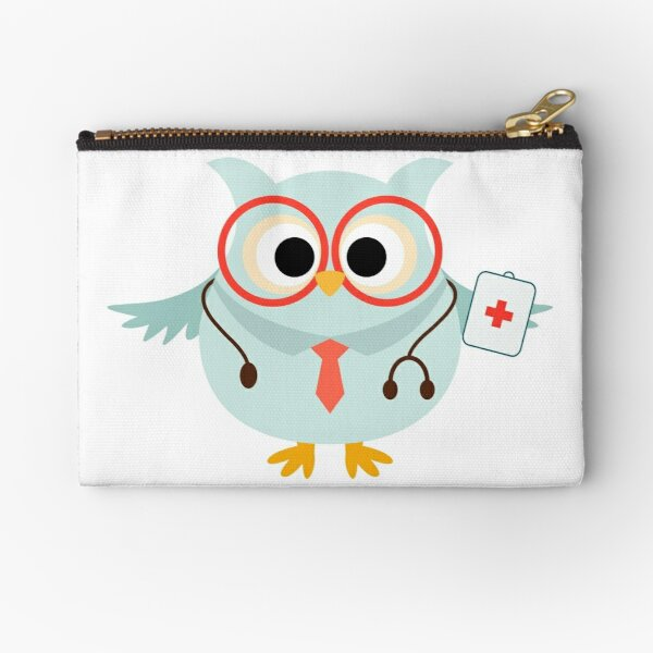 Medical Profession Owl Doctor Zipper Pouch