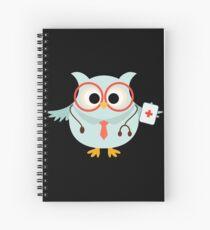 Medical Profession Owl Doctor Spiral Notebook