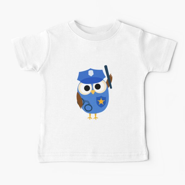 Professions Owl Police Officer Policeman Baby T-Shirt