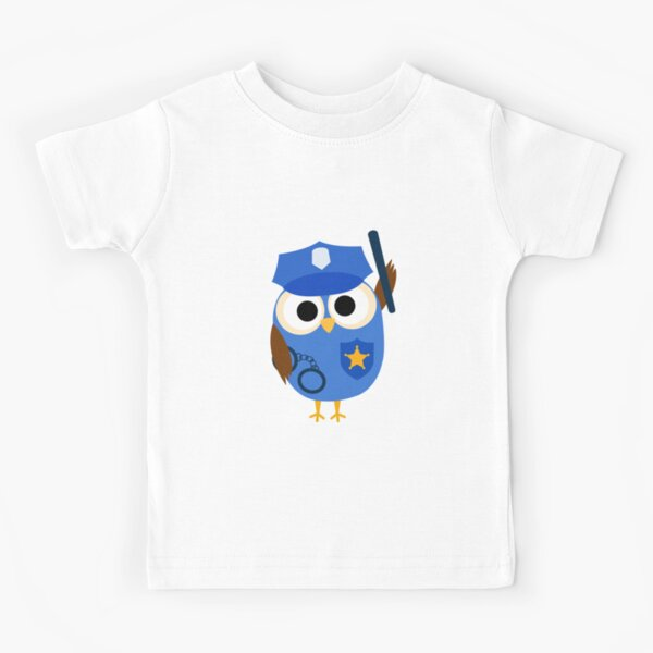 Professions Owl Police Officer Policeman Kids T-Shirt