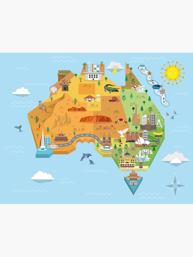 Graphic Map of Australia by GraphicArtist92