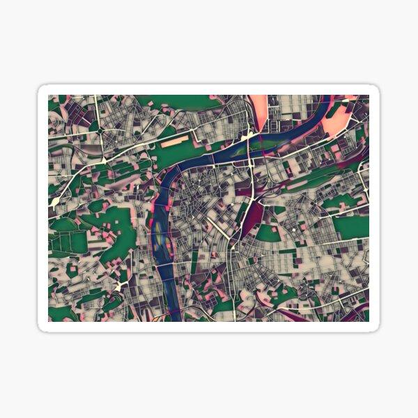 Prague Pop Art City Map Sticker