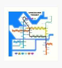 Vancouver Transit Network Art Print