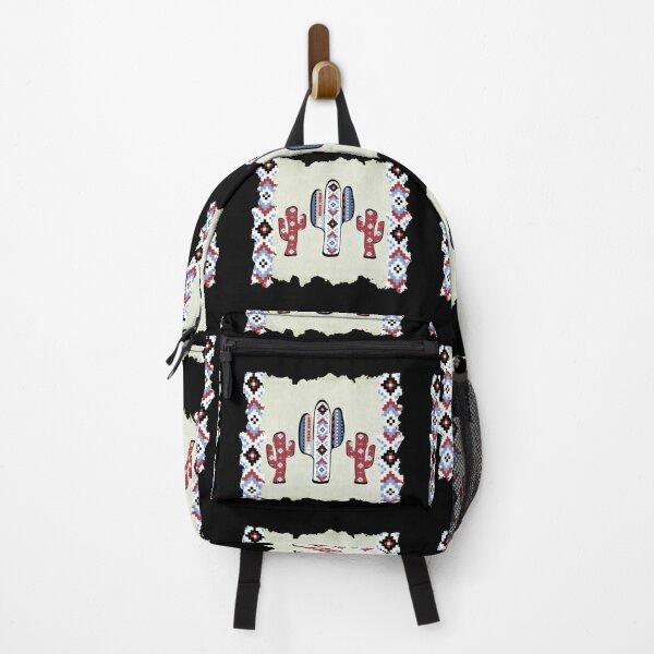 Native American Pattern - Aztec Cactus Backpack