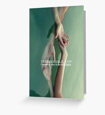 Unbreakable vow Greeting Card