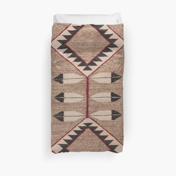 NAVAJO 1925 ART WITH FEATHERS SCAN HIGH RES - ORIGINAL WORTH OVER $20,000 Duvet Cover