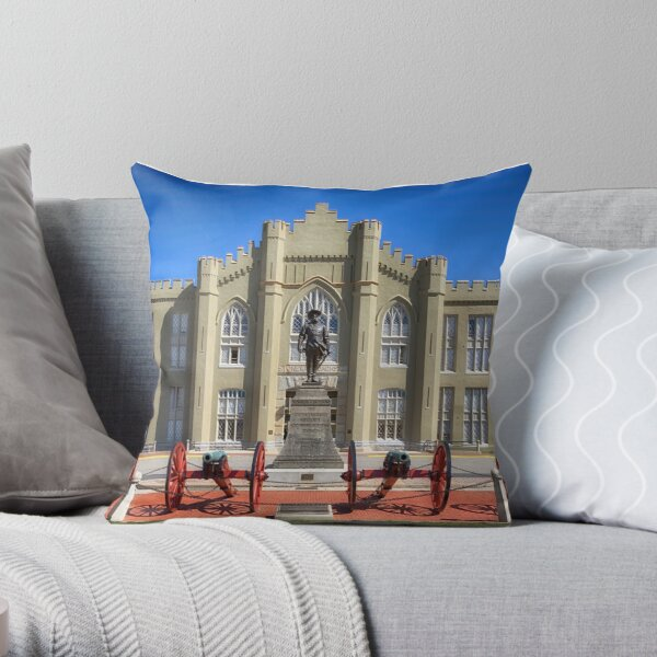 The Old Barracks - Virginia Military Institute Throw Pillow
