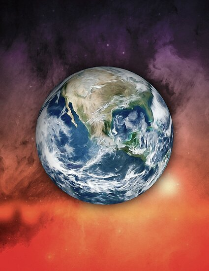 Planet Earth In Space by Phil Perkins