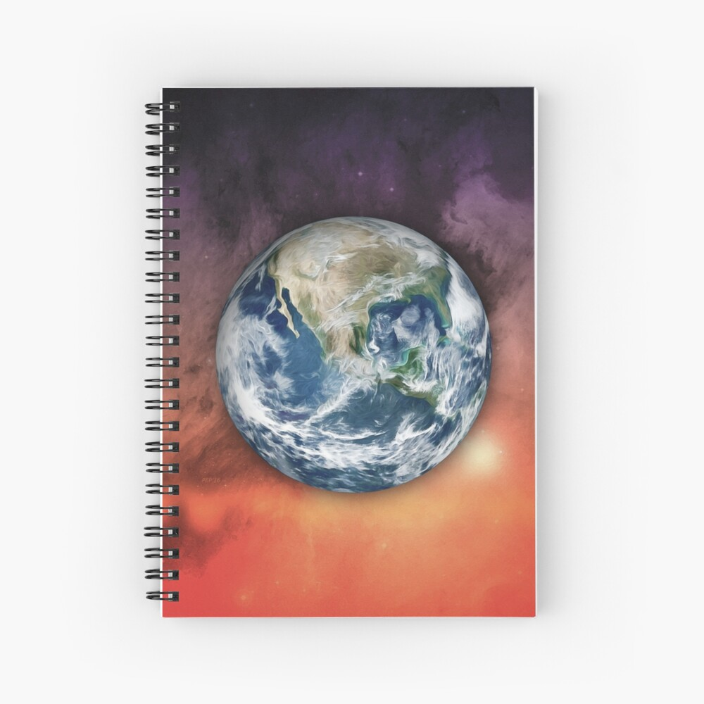 Planet Earth In Space Spiral Notebook