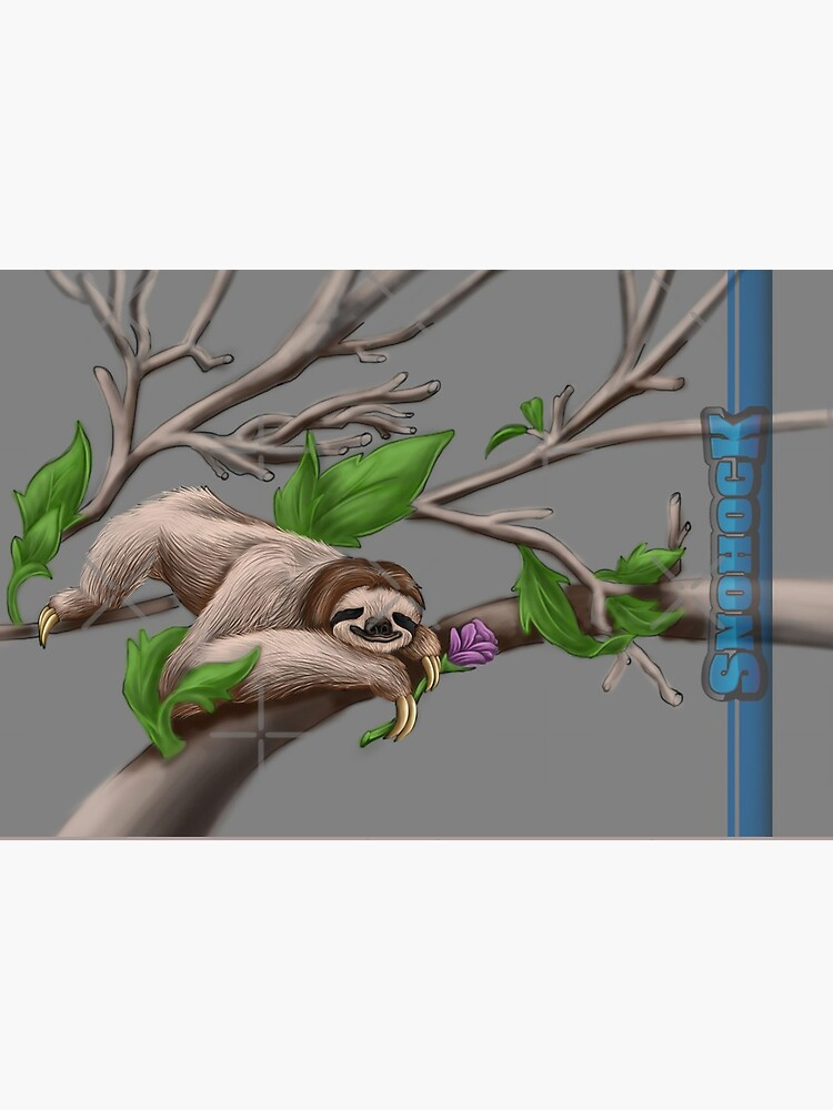 Sloth Face Mask chilling on a branch by snohock