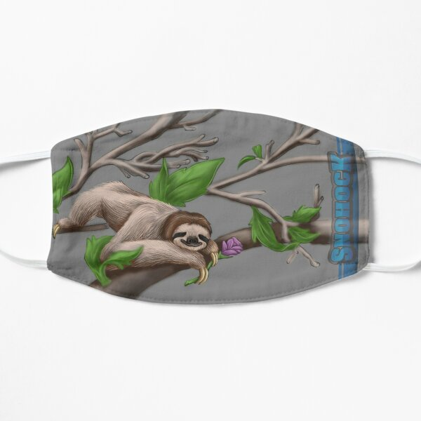Sloth Face Mask chilling on a branch Flat Mask