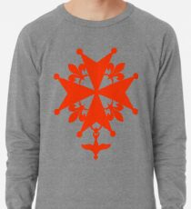 Huguenot Cross in orange color Lightweight Sweatshirt