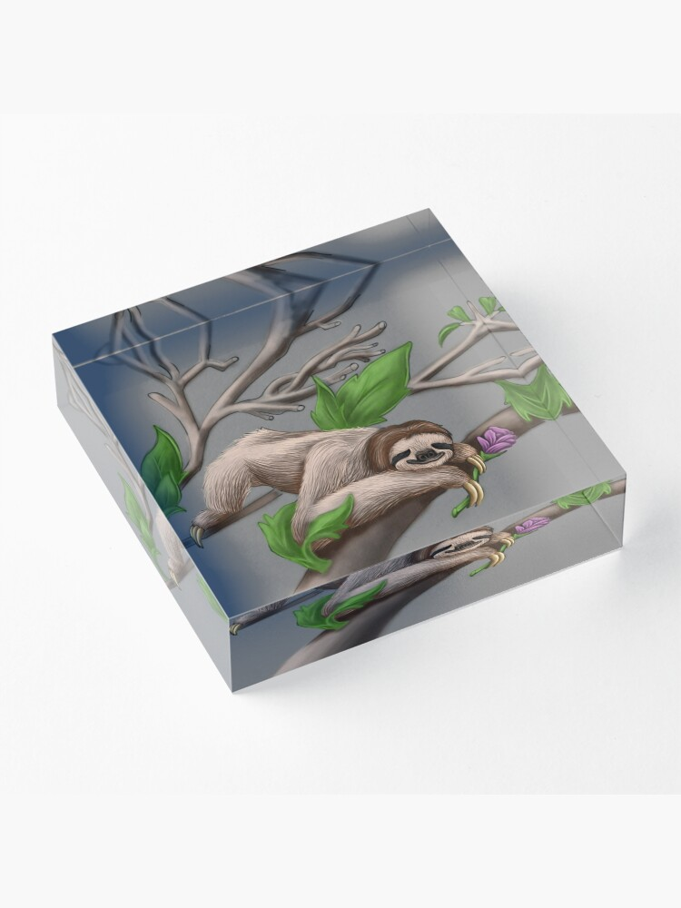 Alternate view of Just Chilin like a Sloth Acrylic Block