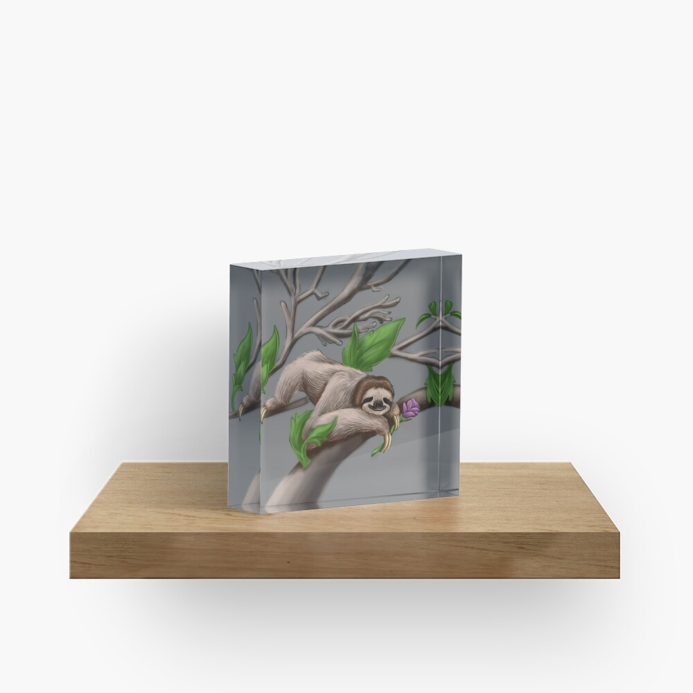 Just Chilin like a Sloth Acrylic Block