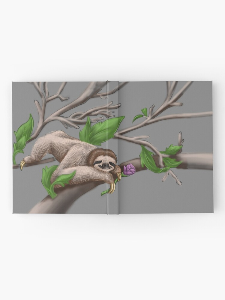 Alternate view of Just Chilin like a Sloth Hardcover Journal