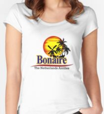 The Netherlands Antilles,Bonaire Women's Fitted Scoop T-Shirt
