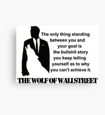 Leonardo Di Caprio - The wolf of Wallstreet Canvas Print