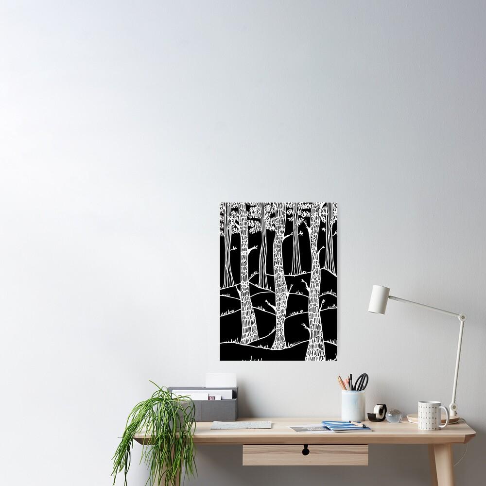 weisse wälder in winter Poster