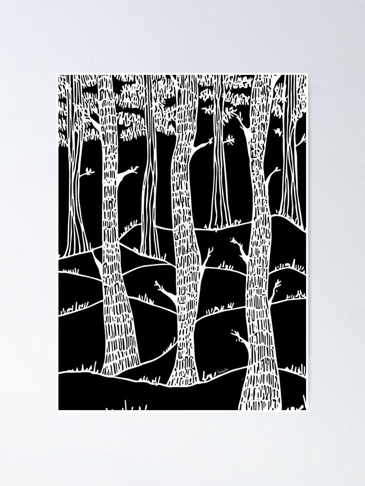 Alternative Ansicht von weisse wälder in winter Poster
