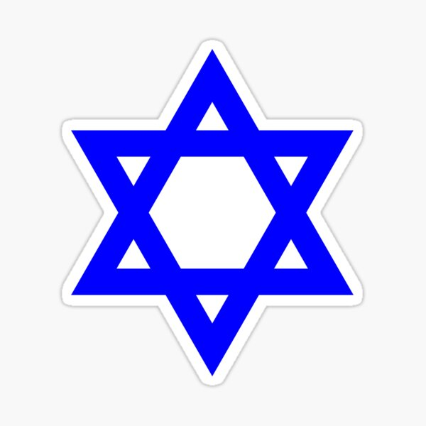 Star of David, blue and thick Sticker