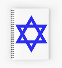 Star of David, blue and thick Spiral Notebook