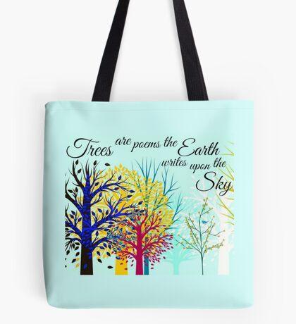 Poetry of Trees. Tote Bag