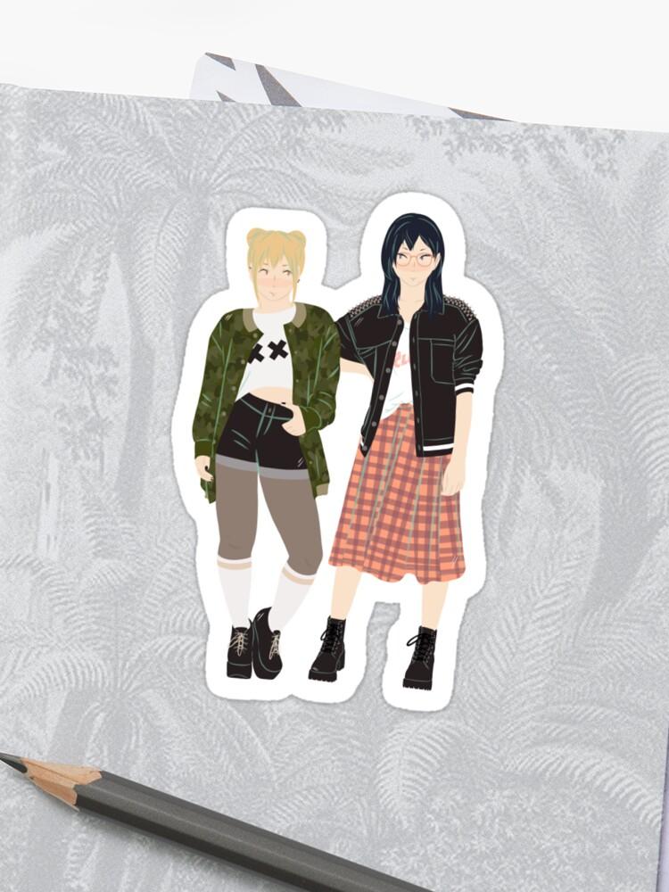 Punk(ish) Yachi and Kiyoko | Sticker