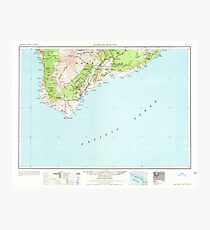 USGS TOPO Map Hawaii HI Hawaii South 349926 1962 250000 Photographic Print
