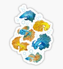 Beta Fish Glossy Sticker