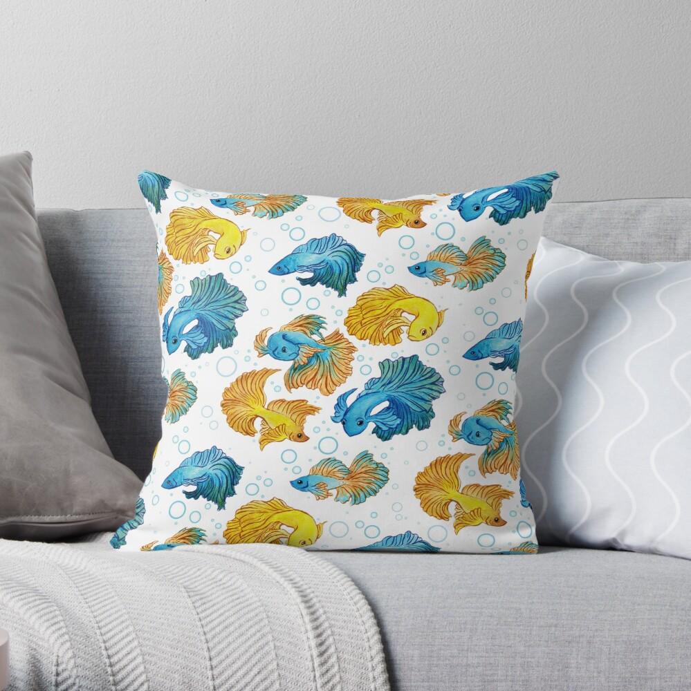 Beta Fish Throw Pillow